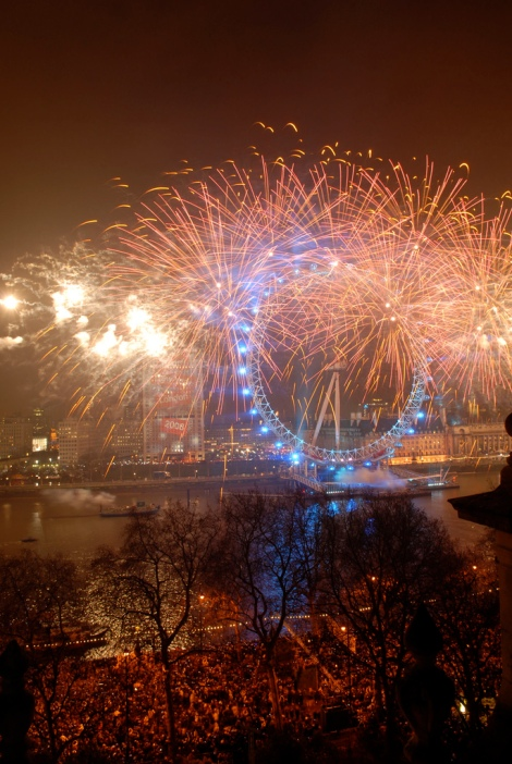 New Year fireworks - London